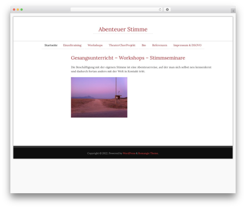 Romangie WordPress theme - abenteuer-stimme.de