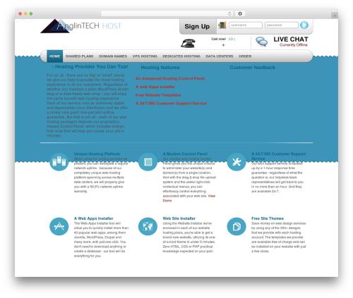 Simply Elegant WordPress theme - anglintech-host.com