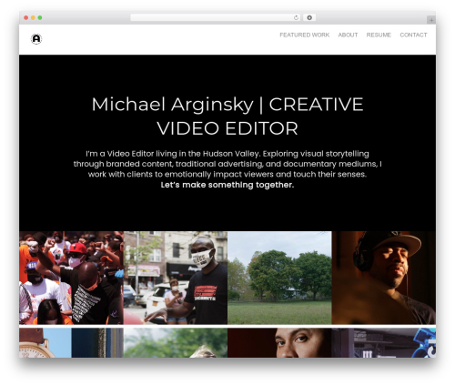 WordPress template Oren - arginsky.com