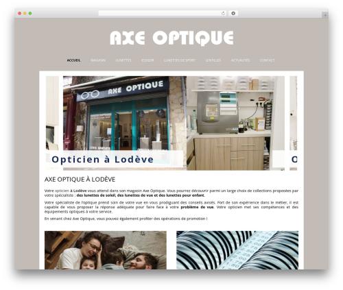 WordPress theme Auxane Opticiens - axe-optique.fr