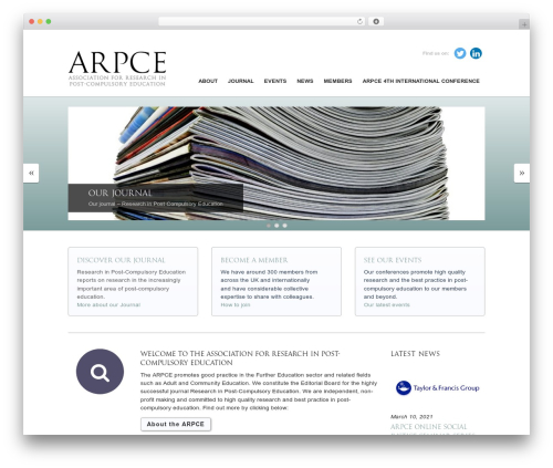 Agency WordPress theme design - arpce.org.uk