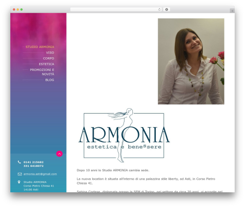 BeautySpot WP template - armonia-asti.it