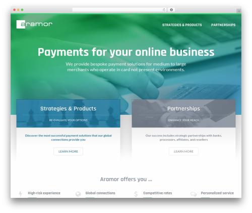 Custom Theme WordPress page template - aramorpayments.com