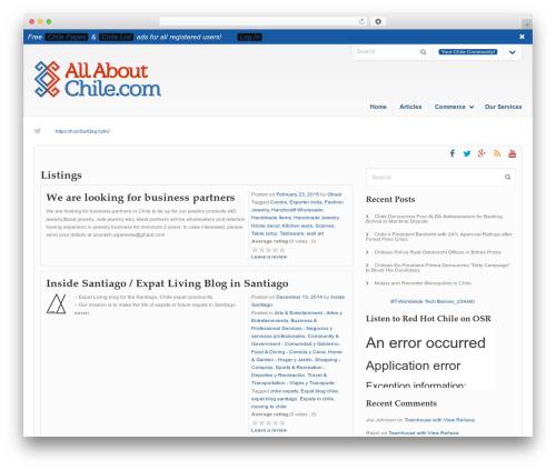 WordPress amazon-affiliate-link-localizer plugin - allaboutchile.com/listings