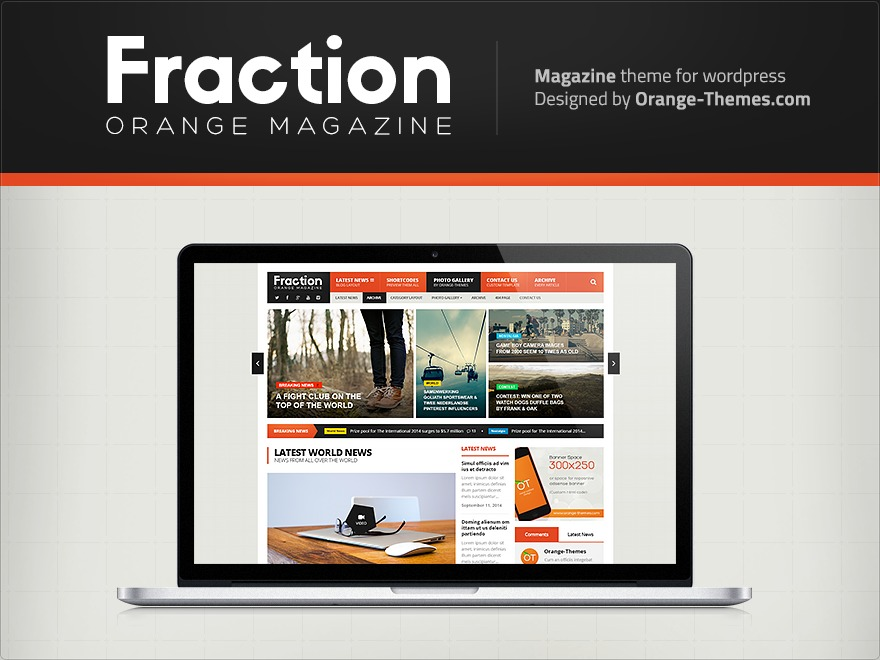 Fraction Child WordPress page template