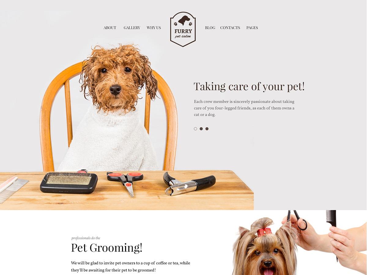 Furry wallpapers WordPress theme