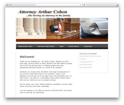 Isquar WordPress theme - attorneyarthurcohen.com