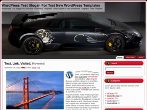 Lamborghini Skull WordPress blog template by Wordpress Templates