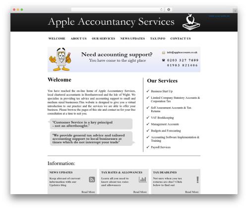 Pells Chartered Accountants WordPress website template - appleaccountancy.co.uk