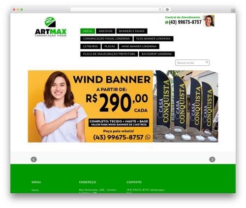 Template WordPress Corporate Responsive WordPress Theme - artmax.com.br