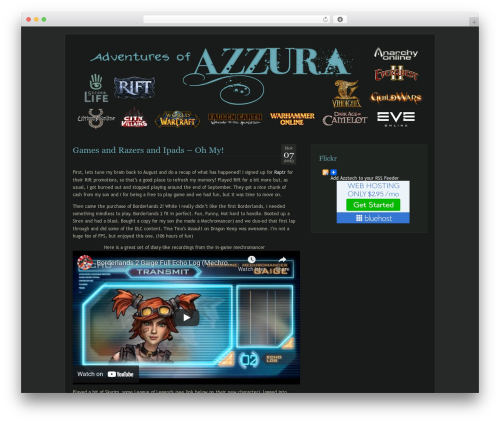 WordPress theme Aurora - azztech.net/blog