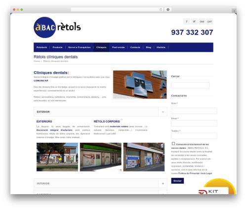 Abac Retols WP template - abacretols.com/catala/retols-cliniques-dentals