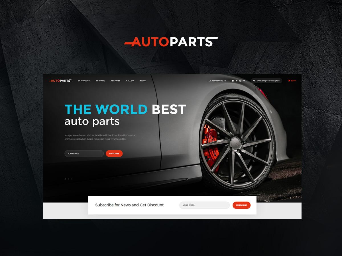 AutoParts WordPress blog template