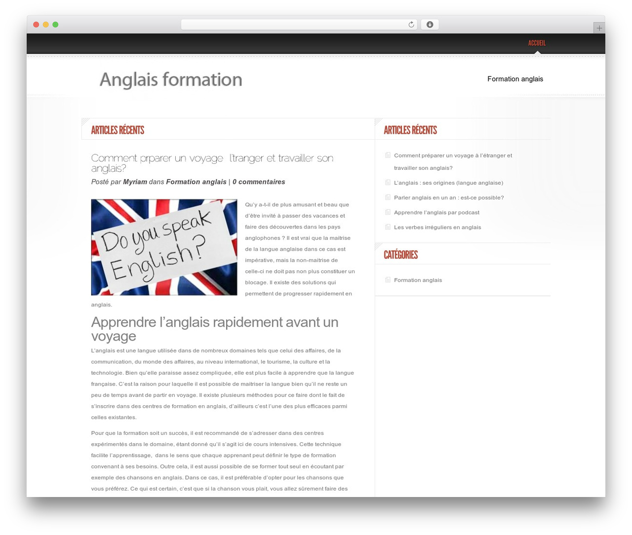 Best WordPress theme Delicate News - anglaisformation.fr