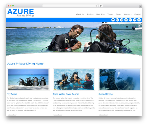Celestial WordPress template - azurediving.com