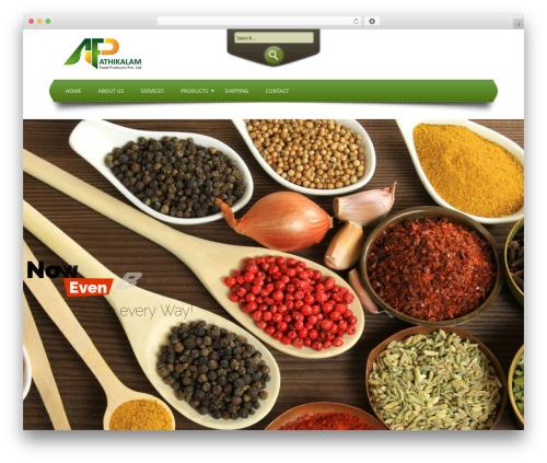 Circolare food WordPress theme - athimasala.com
