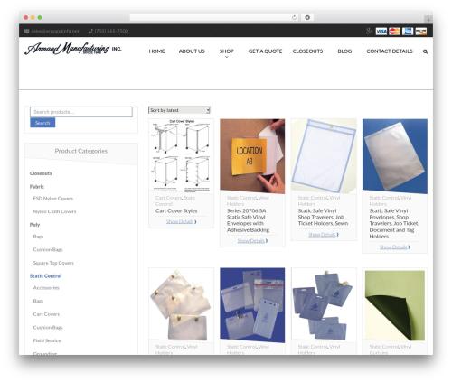Desirable best WordPress template - armandmfg.com/product-category/static-control