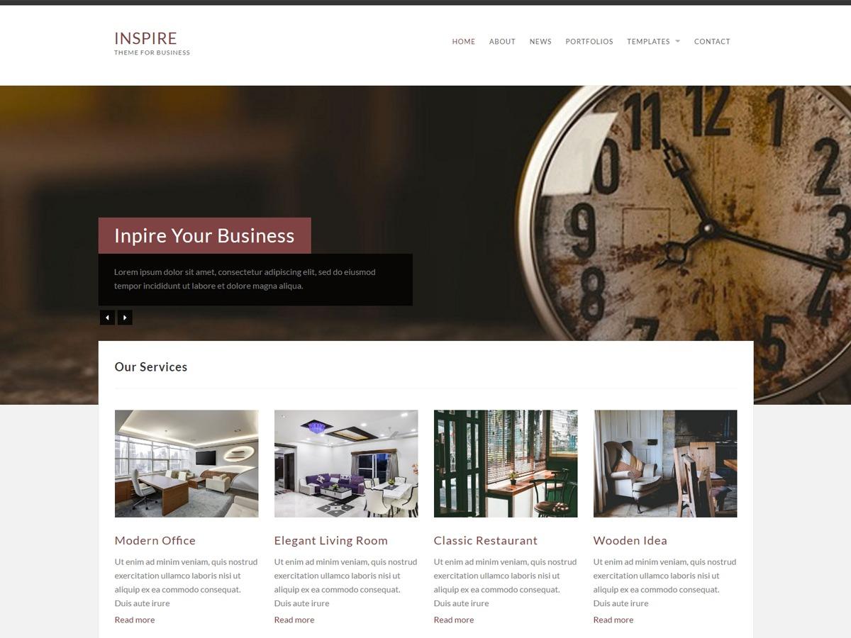 InspireKT company WordPress theme