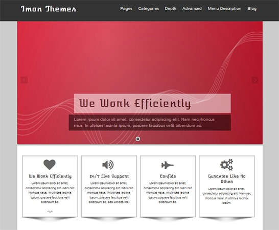 isis WordPress template for business