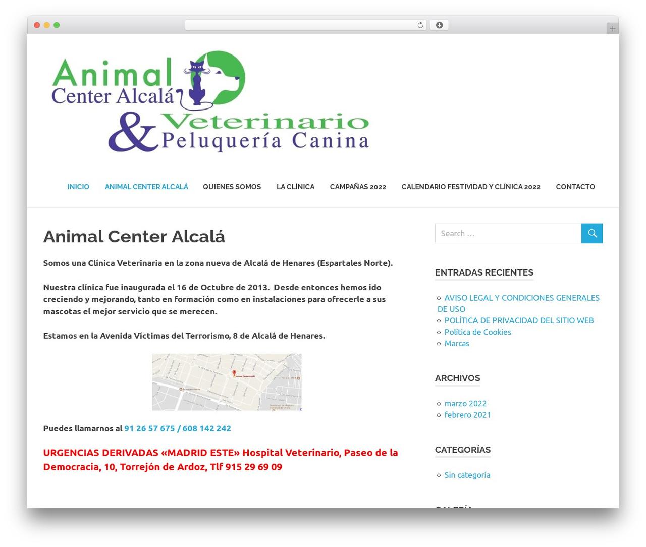 Poseidon free WordPress theme - animalcenteralcala.com