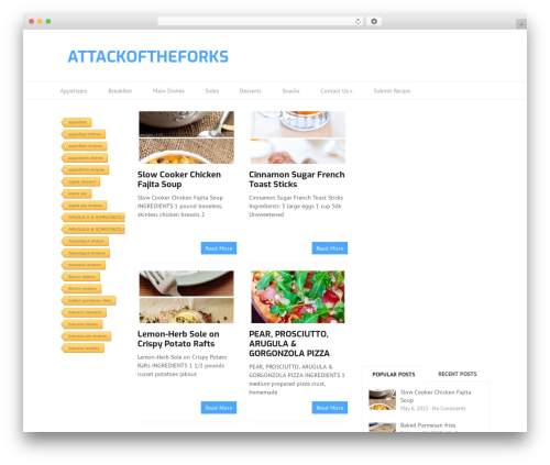 Split WordPress theme design - attackoftheforks.com