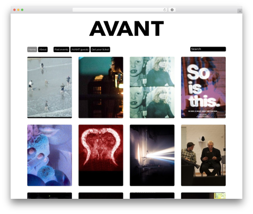 Template WordPress Grid Theme Responsive - avantfilm.se