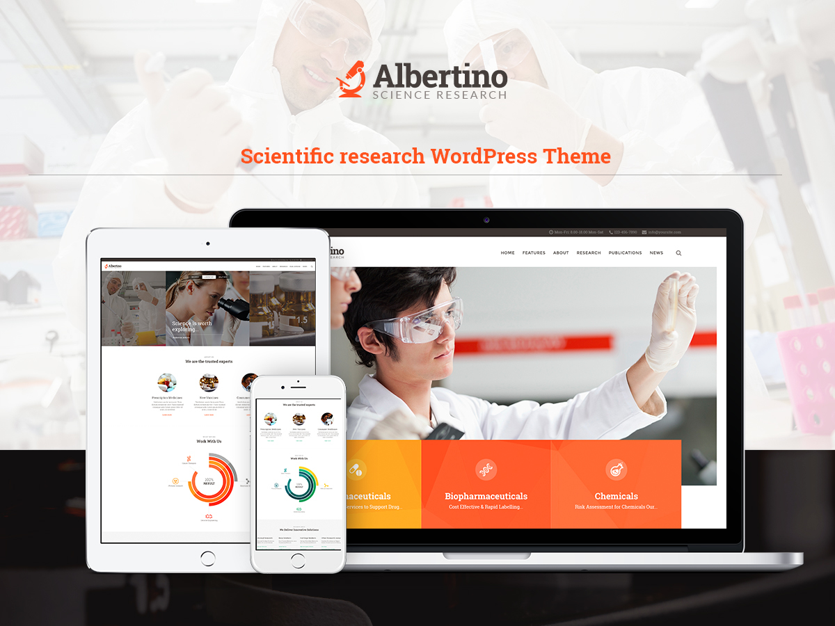 WordPress template Albertino Childtheme
