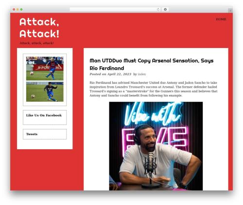 WordPress theme eyesite - attackattack.net