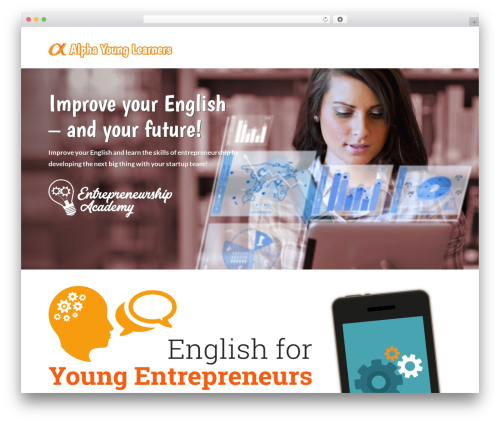 WordPress theme X Pro - alphayounglearners.com/english-for-young-entrepreneurs