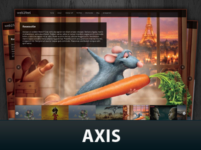 Axis WordPress page template