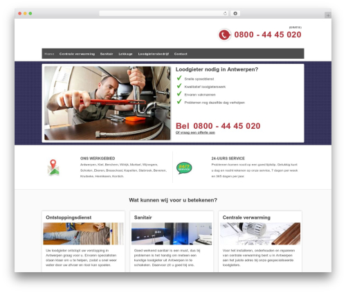Bono Flex Theme WordPress page template - antwerpen-loodgieter.be