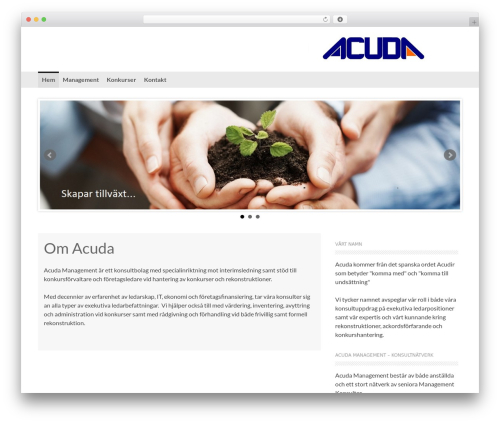 Coller template WordPress free - acuda.se