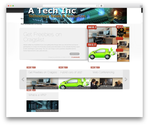 Delicate News WordPress news template - atechinc.com