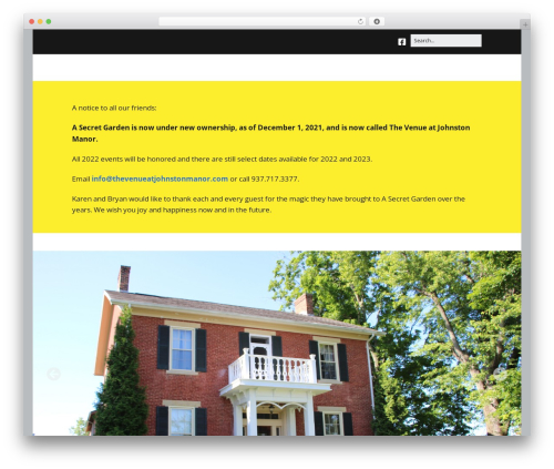Make free WordPress theme - asecretgardenohio.com