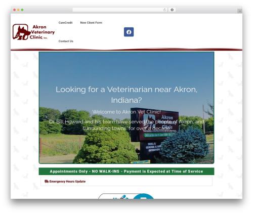 Pet Business business WordPress theme - akronvetclinic.com