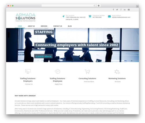 Specular business WordPress theme - armadasolutionsinc.com