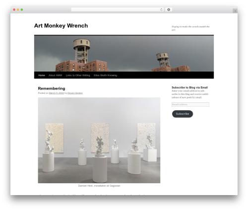 Twenty Ten WordPress theme download - artmonkeywrench.com