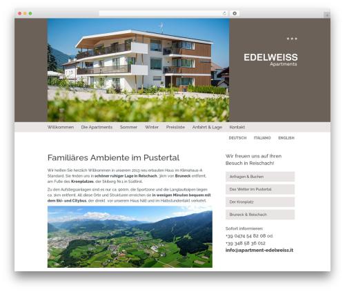 WordPress wp-showcase plugin - apartment-edelweiss.it/de