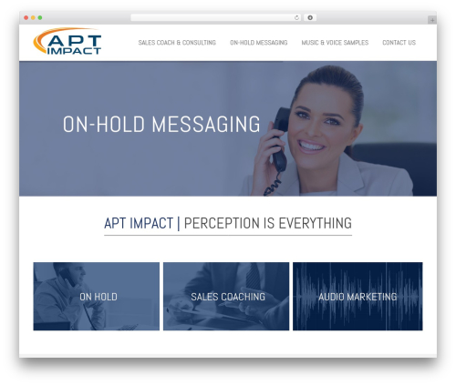 WordPress theme Impreza - aptimpact.com