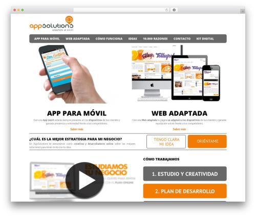 WordPress theme Magnet - appsolutions.es