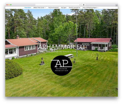 WordPress website template Divi - arhammar.eu