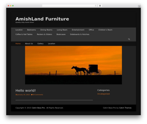 WP theme Catch Base Pro - amishlandfurniture.com