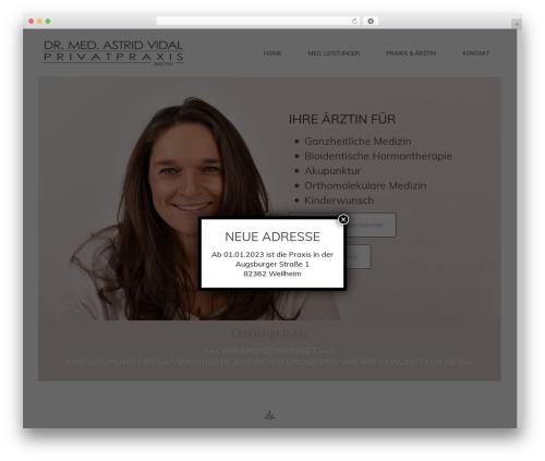 Basisframework WordPress template - astridvidal.de