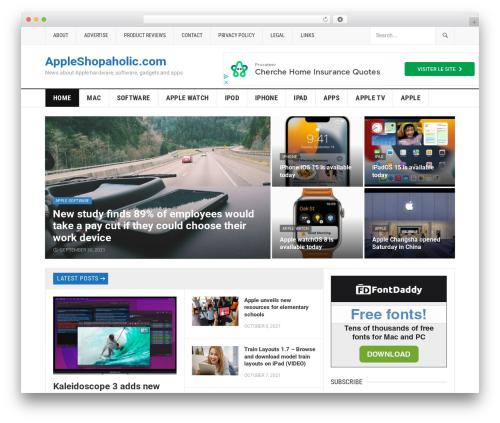 Best WordPress template GoodPress Pro - appleshopaholic.com