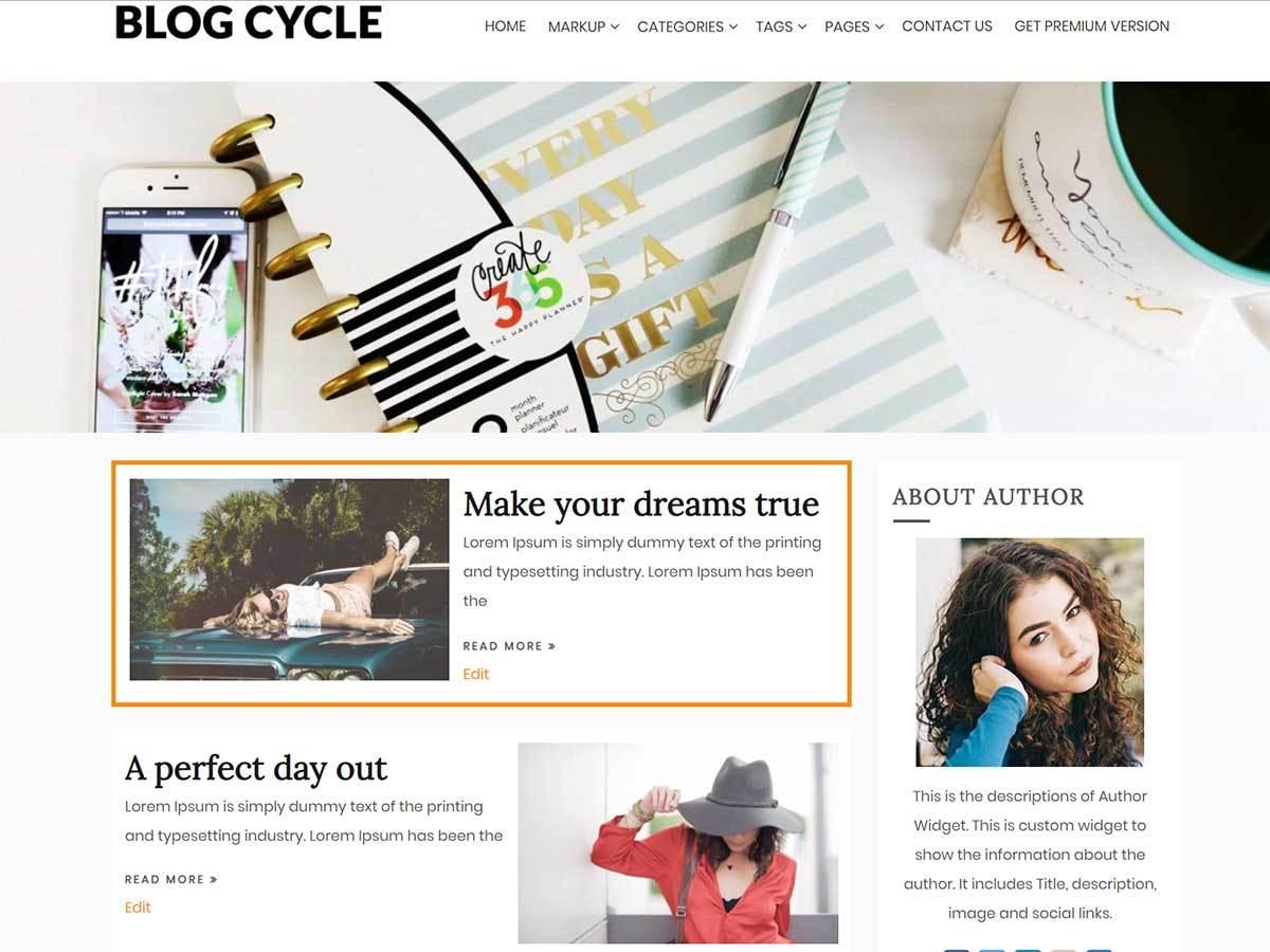 my world with grass and dew theme WordPress by myThem.es ...