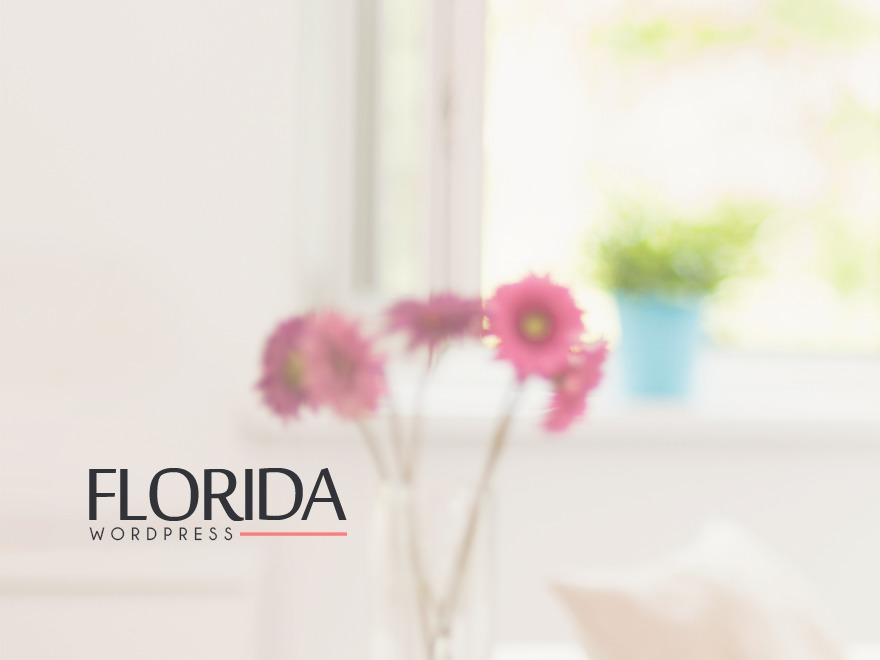Florida personal blog WordPress theme