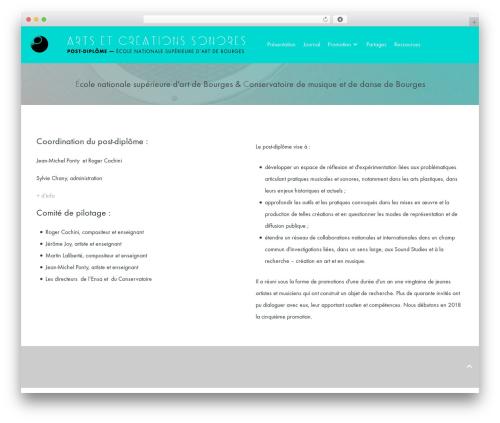 Helium WordPress theme - artetcreationsonore.eu