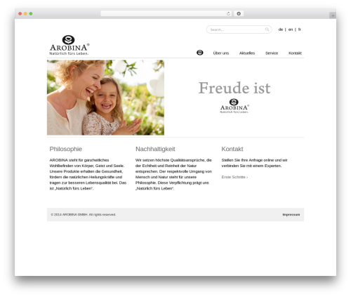 Mugen WordPress theme - arobina.com