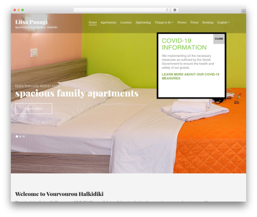 Olympus Inn best WordPress template - apartments-panagi.com