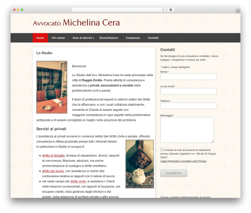 Pinboard WordPress theme - avvocatocera.com